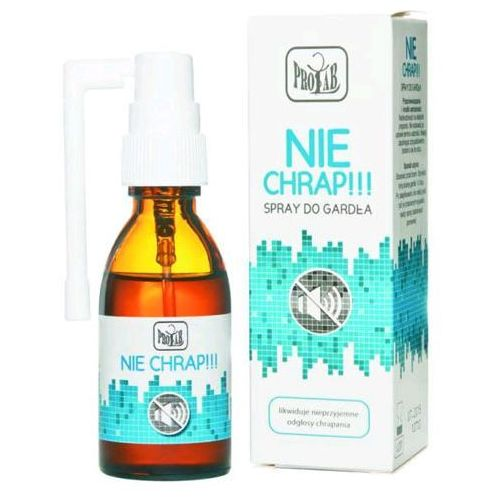 Spray Spray NIE CHRAP skutecznie redukuje odgłosy chrapania - 30ml
