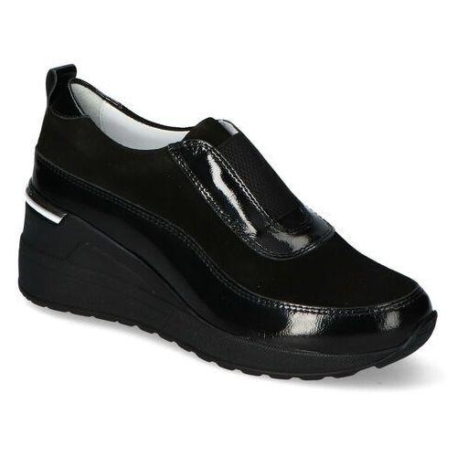 Venezia Sneakersy la4024/401bl j20 czarne zamsz