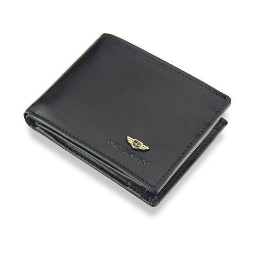 be5d7da5eb443 Kompaktowy Portfel Męski Peterson Skórzany Mały Zgrabny Poziomy Czarny  SYSTEM RFID 367