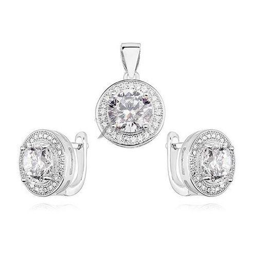 Elegancki komplet bizuterii srebro z cyrkoniami Anka biżuteria
