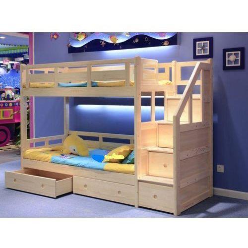 łóżko Piętrowe Ze Schodami I Materacami 190x80 Cm