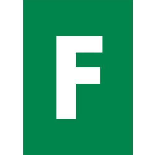 Litera f (biały/zielony) Top design