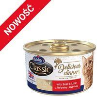 BUTCHER'S Classic Delicious Dinners z wołowiną i wątróbką - puszka 85g (5011792001668)