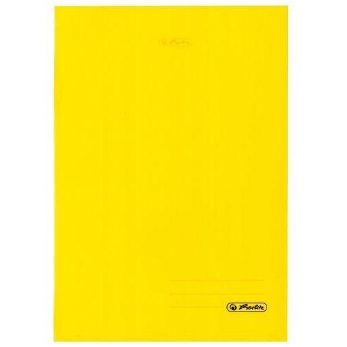 Zeszyt B5 60k kratkę okładka folii PP HERLITZ - żółty (2501234507610)