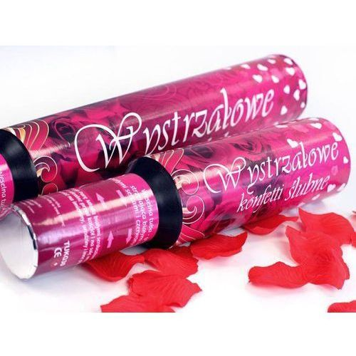 Tuba strzelająca - konfetti serca i płatki róż - 30 cm - 1 szt.