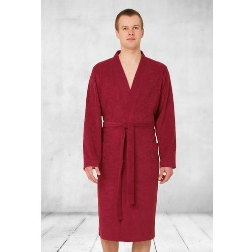0779c511b53374 de Lafense Christian 711 Bordowy szlafrok męski - emodi.pl moda i styl