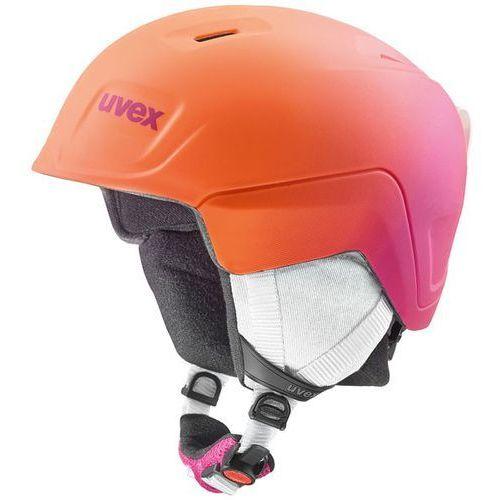 Uvex Juniorski kask narciarski manic pro pomarańczowy/różowy 566/224/9803 51-55 s