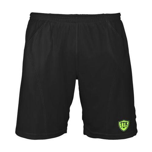 t-shorts iridium black - spodenki tenisowe r. xs marki Ttk