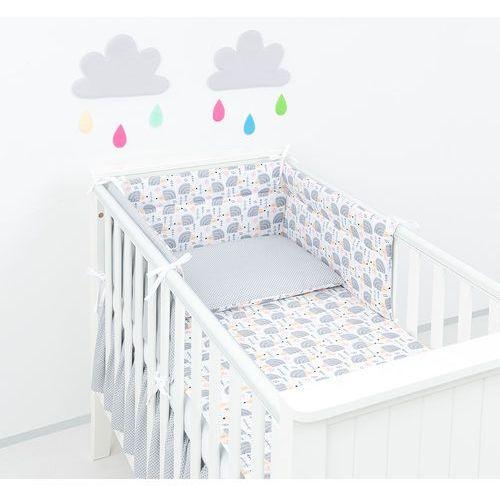 ochraniacz do łóżeczka 60x120 jeżyki szare / mini kropki szare marki Mamo-tato