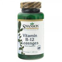 Tabletki Swanson, Witamina B12, 1000mcg, 250 tabletek do ssania - Długi termin ważności! DARMOWA DOSTAWA od 39,99zł do 2kg!