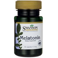 Kapsułki Swanson Melatonina 3mg 60 kaps.