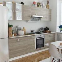 Vidaxl  szafki kuchenne w kolorze dębowym i piekarnik pod zabudowę 8 funkcji (8718475896302)