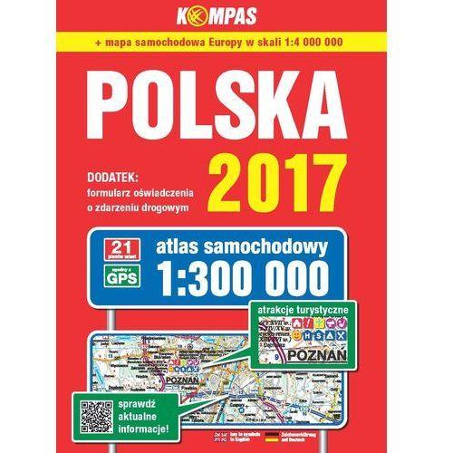 Atlas samochodowy Polski Kompas 1:300 000/2017, praca zbiorowa