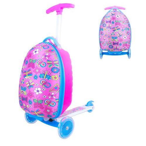 Hulajnoga trójkołowa z plecakiem dla dzieci WORKER Lagy, Różowy (8596084032560)