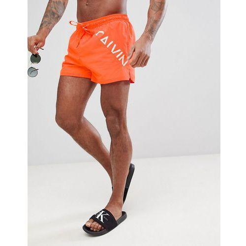 0cf9ef3ef597a5 Short Logo Swim Shorts - Orange (Calvin Klein) - sklep SkladBlawatny.pl
