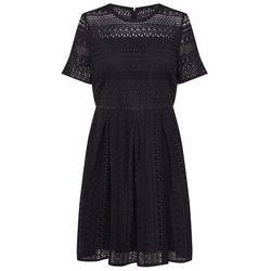 VERO MODA Sukienka 'VMHONEY LACE PLEATED S/S DRESS EXP' czarny