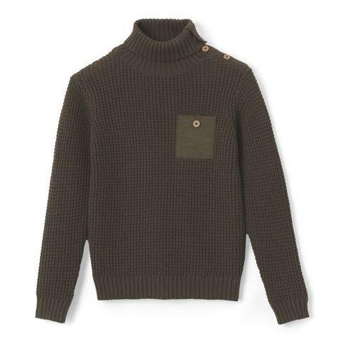 Sweter z fantazyjnej dzianiny 3 - 12 lat, kolor zielony
