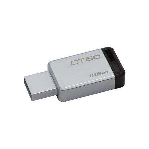 Kingston data traveler 50 128gb usb 3.0 metal/czarny (0740617255812)