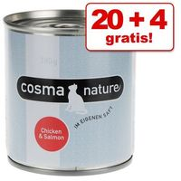 20 + 4 gratis! nature, 24 x 280 g - filet z kurczaka marki Cosma