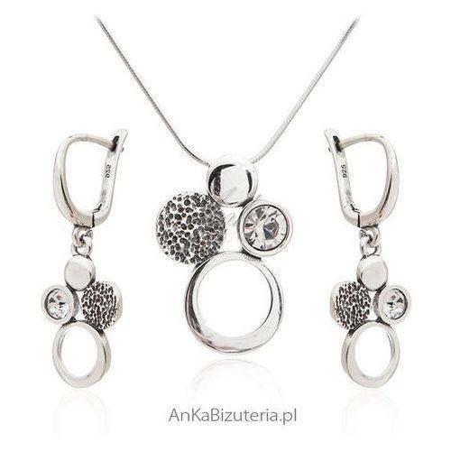 Komplet biżuteria srebrna z cyrkonią Anka biżuteria