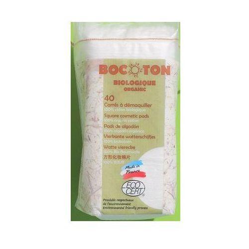 Bocoton ekologioczne płatki kosmetyczne kwadratowe 75x75 mm - 40 szt