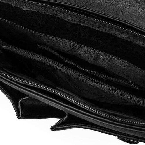 Torba / teczka męska do ręki i na ramię vintage s14 lanark czarna marki Solier