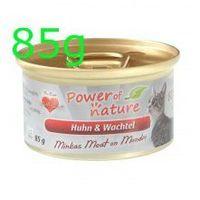 Power of nature Minka's meat on monday 85g huhn wachtel kurczak z przepiórką power of natura (5907222093443)