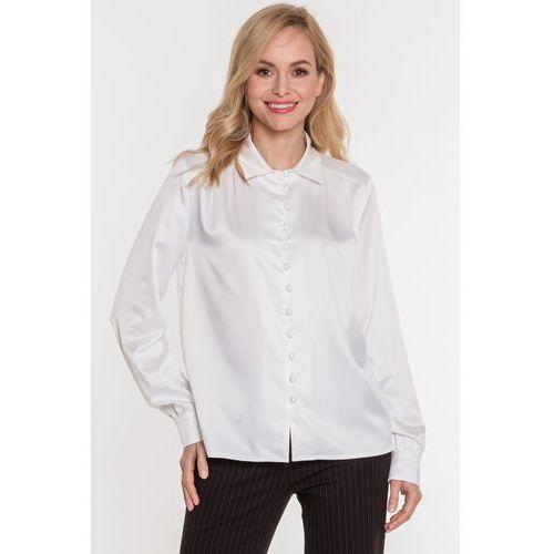 e4fb120a833dd7 Biała satynowa koszula z pętelkami (Kumi) opinie + recenzje - ceny w ...