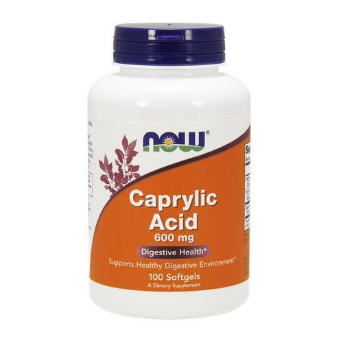 Kapsułki Now Foods Kwas Kaprylowy Caprylic Acid 600mg 100 kaps
