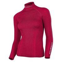 Brubeck ls11930 bluza damska merino extreme wool burgundowa