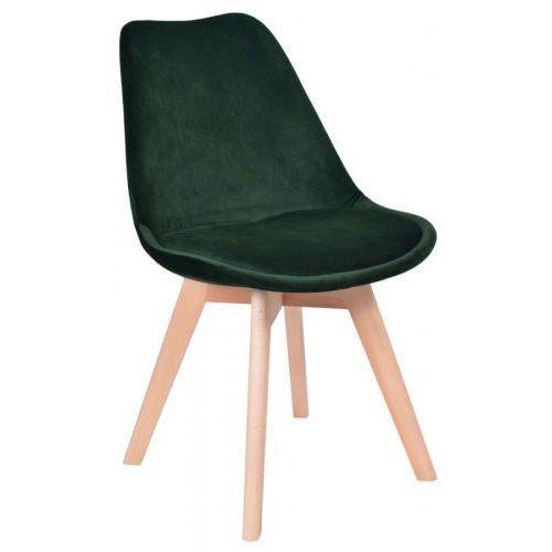 Krzesło hugo aksamit zielone marki Krzeslaihokery