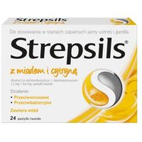 Pastylki Strepsils miod z cytryna 24 tabletki