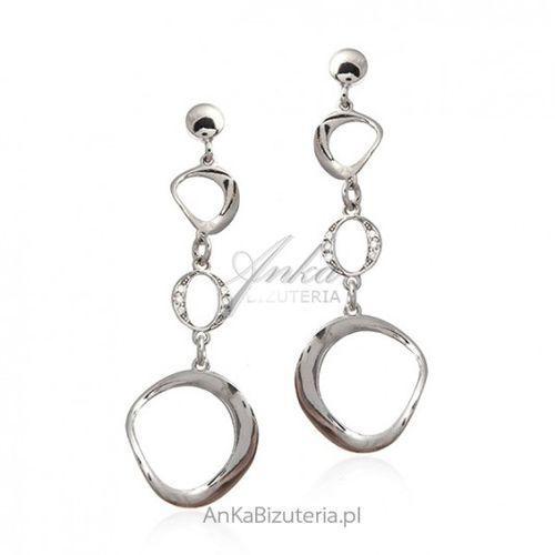 7a229112008426 Zobacz w sklepie Ankabizuteria.pl Kolczyki srebrne z cyrkoniami biżuteria  srebrna włoska, kolor szary