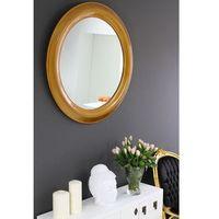 Lustro okrągłe, kolor złoty, rama drewniana. marki Design by impresje24