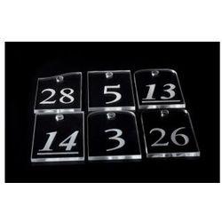 Breloki do kluczy z numeracją, grawer PLEKSI bezb.