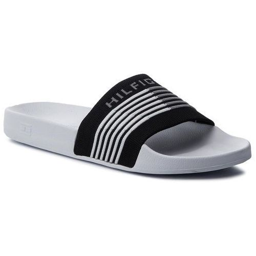 Klapki - corporate knit poolside fm0fm02346 black 990, Tommy hilfiger, 41-44