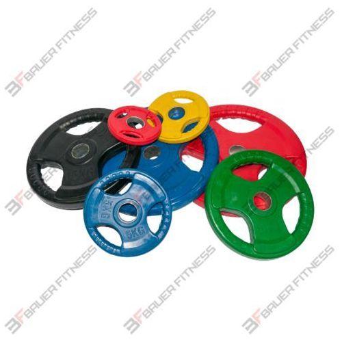 Obciążenia olimpijskie ogumowane kolorowe Bauer fitness
