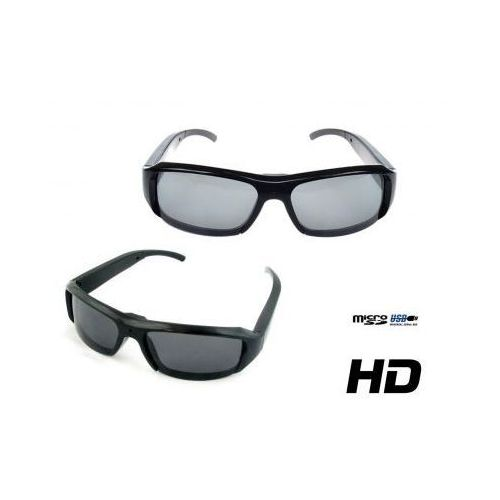 Szpiegowskie Okulary HD (przeciwsłoneczne), Nagrywające Obraz i Dźwięk + Aparat Foto...