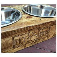 Drewniana miska dla psa lub kota