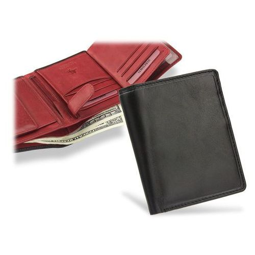 720decd2bf87e Visconti portfel męski skórzany torino tr34 czarny + czerwony - czarny +  czerwony