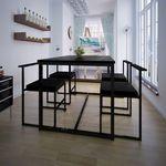 5-elementowy zestaw mebli do jadalni: stół i krzesła, czarny marki Vidaxl