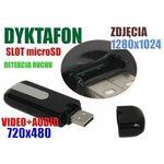 Spy elektronics ltd. Szpiegowski pendrive nagrywający obraz+dźwięk (m.in. na ruch) + rejestrator dźwięku + ap. foto...