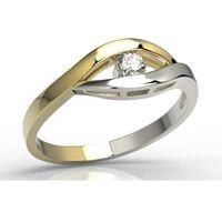 Węc - twój jubiler Pierścionek zaręczynowy z żółtego i białego złota z diamentem lp-9910zb