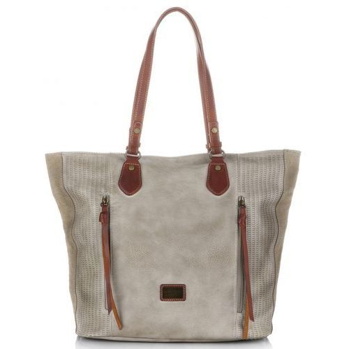 4f8327518869f Oryginalne torebki damskie xl w stylu vintage na każdą okazję beżowe marki David  jones