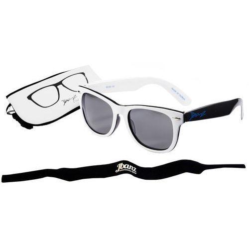 Okulary przeciwsłoneczne dzieci 4-10lat UV400 BANZ - White/Black (9330696043731)