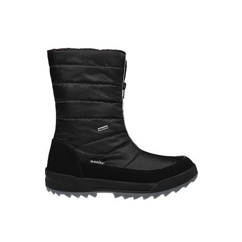 Śniegowce MANITU 991177-1 Czarne Polar-Tex damskie - Czarny ||Brokat (4053519879915)