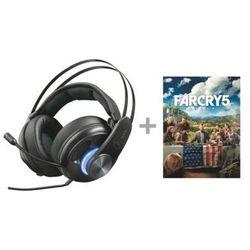 Zestaw słuchawkowy TRUST GXT 383 Dion 7.1 Bass Vibration Headset do PC/PS4/Xbox One + Gra PC Far Cry 5