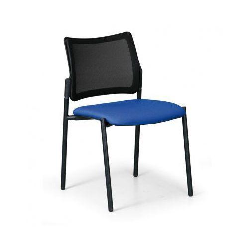 Krzesło konferencyjne Rock bez podłokietników, niebieski