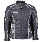 Damska kurtka motocyklowa wodoodporna nf-2406, czarno-białe grafiki, xxl, W-tec