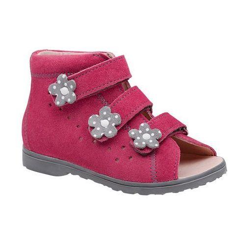 Sandałki profilaktyczne ortopedyczne buty 1041 różowe rcsz - różowy ||fuksja ||multikolor marki Dawid